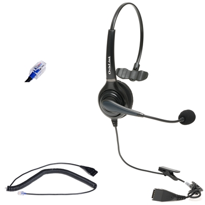 Polycom Headset Single-Ear for Call Center Headset with RJ9 Quick Disconnect Cord