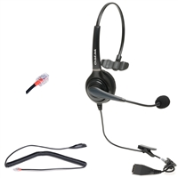 Yealink IP Phone Single-Ear Wired Headset for Call Centers