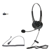 Dual Ear Call Center Headset with 2.5mm Quick Disconnect Cord