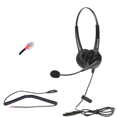 Dual Ear Call Center Headset for Snom IP phones