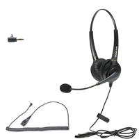 Call center headset compatible with Cisco SPA300 & SPA500