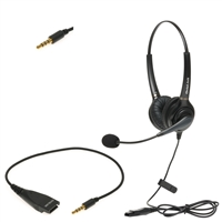 iPhone Corded Dual-Ear Call Center Headset