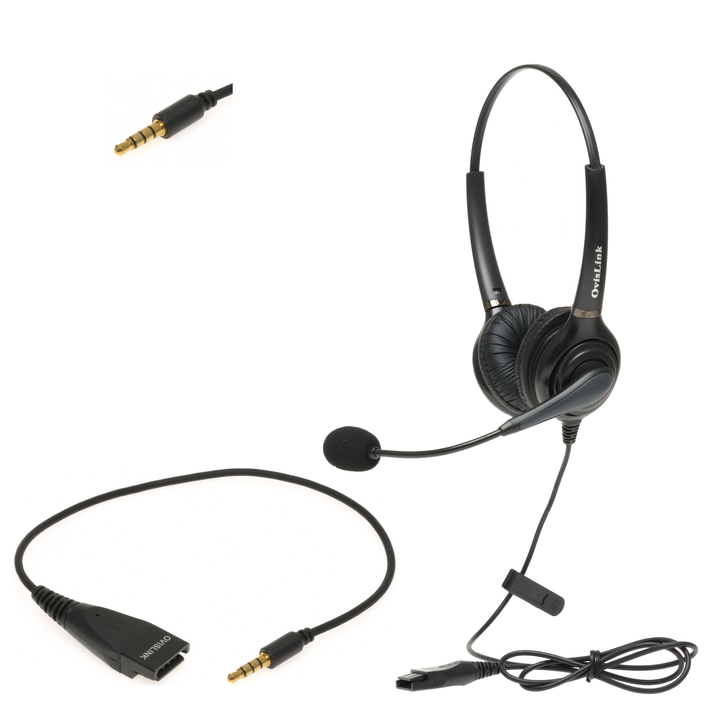 Dual-Ear Wired iPhone Headset   Two-Ear Business Headset