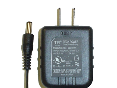 5V 1.2A Universal AC adapter