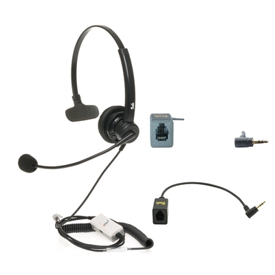 Visbr Headset with RJ9 and 2.5mm Connector