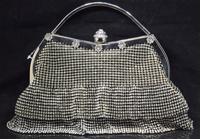 1034 RHINESTONE SKIRT EVENING BAG