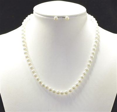 "12978 17"" S PEARL NECKLACE SET"