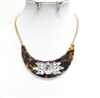 14008 CRYSTAL/PRINT NECKLACE SET