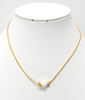 14941BE  SINGLE PEARL NECKLACE