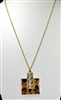 14975 ACRYLIC GOLD CHAIN NECKLACE