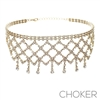 15886CR WEB DRAPED CHOKER