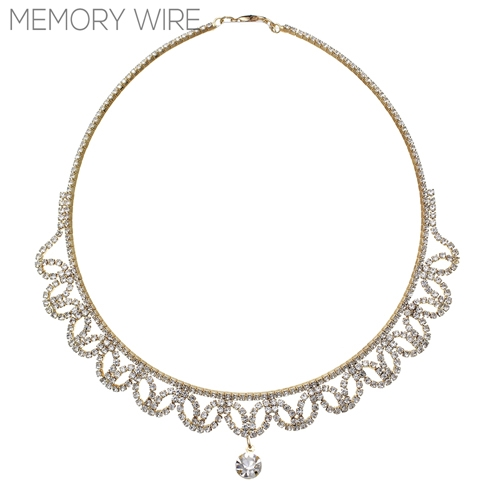 15902CR  CA g rs drape memory wire neck cr
