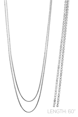 "15953CR 60"" RHINESTONE NECKLACE"