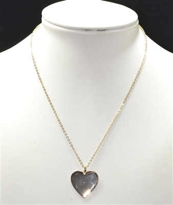 15971V SOLID HEART THIN SMALL NECKLACE