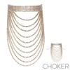 16141 CRYSTAL RHINESTONE LAYER CHOKER