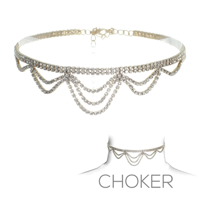 16280CR TWO LINE DRAPE CHOKER