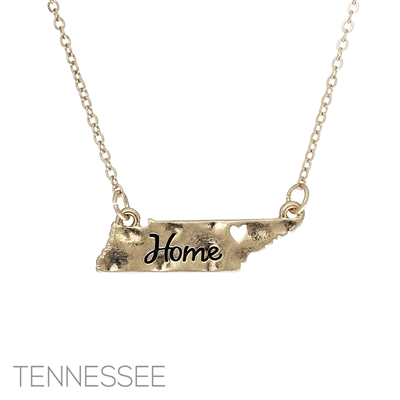 16321-TN TENNESSEE HOME STATE NECKLACE