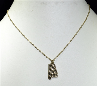 16423 AL ALABAMA STATE CHAIN NECKLACE