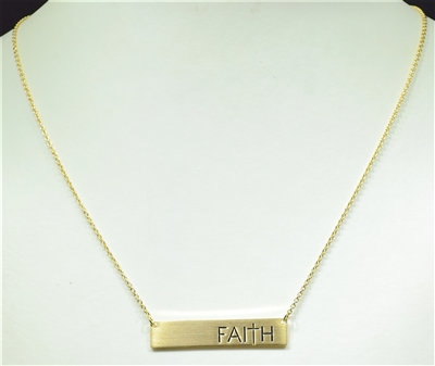 16428 ANTIQUE FAITH BAR NECKLACE