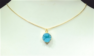"16621 SMALL ""CUT CRYSTAL"" THIN NECKLACE"