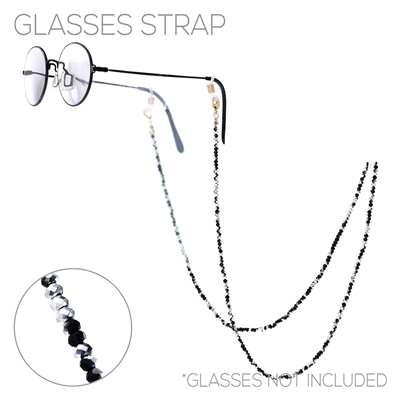 16644 CRYSTAL BEADED GLASSES/MASK STRAP