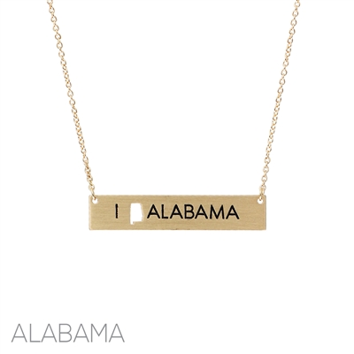 16729 I LOVE ALABAMA NECKLACE
