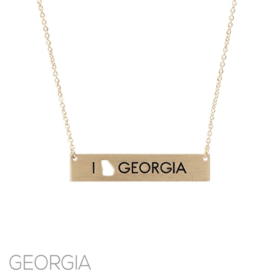 16732 I LOVE GEORGIA NECKLACE