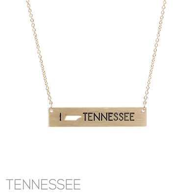 16738 I LOVE TENNESSEE NECKLACE