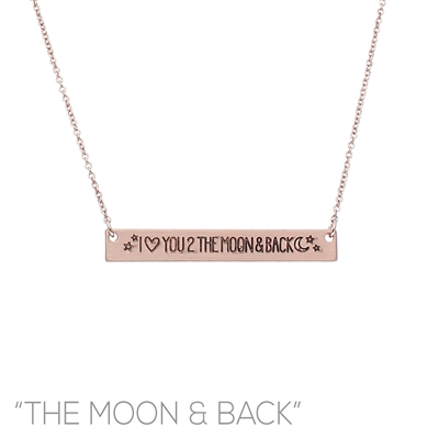 16759 ANTIQUE ''ILY 2 THE MOON & BACK'' NECKLACE