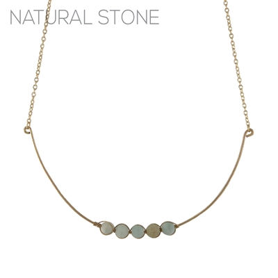 16866 NATURAL STONE CHOKER NECKLACE