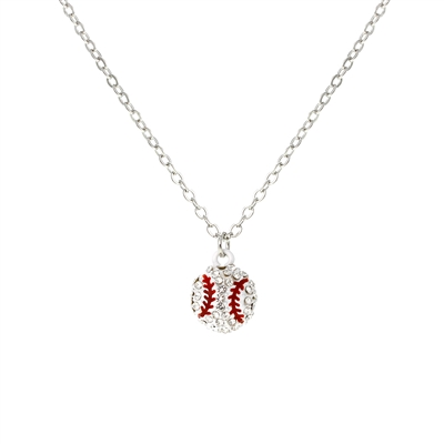 16924 BASEBALL RHINESTONE CHAIN NECKLACE