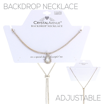 16939CR RHINESTONE BACKDROP NECKLACE