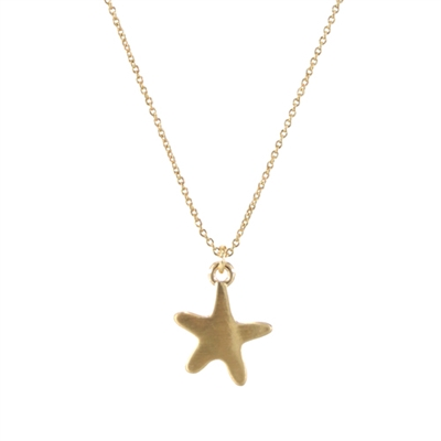 16974 STARFISH CHAIN NECKLACE