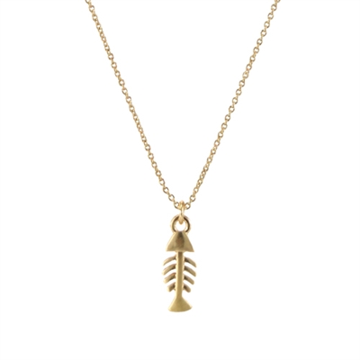 16976 FISH BONE CHAIN NECKLACE