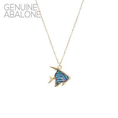 17142 ANTIQUE ABALONE ANGEL FISH THIN NK
