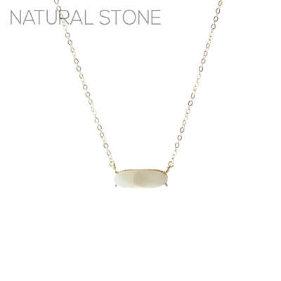 17260 ANTIQUE OVAL STONE SHORT THIN GOLD NK