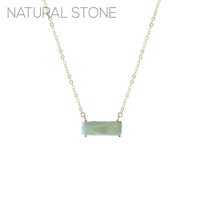 NATURAL STONE CHAIN NECKLACE
