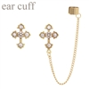 23391CR RHINESTONE CROSS EAR CUFF