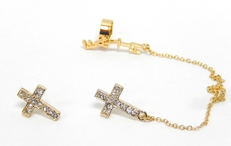 "23525 EARCUFF ""FAITH"" SET"