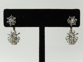 23549 CRYSTAL SPIDER WEB EARRING