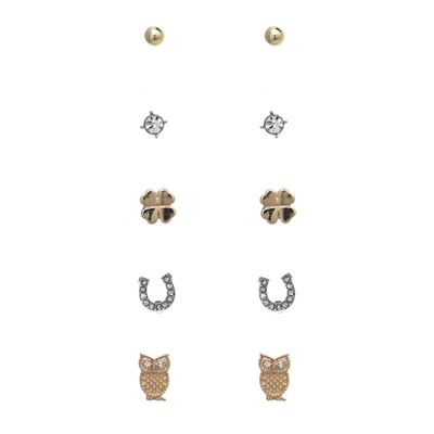 25142 FIVE-PAIR SMALL STUDS SET