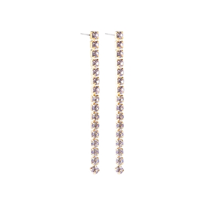 25147 ONE STRAND RHINESTONE DANGLE EARRING