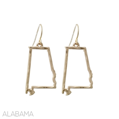 25214 AL ALABAMA STATE EARRINGS