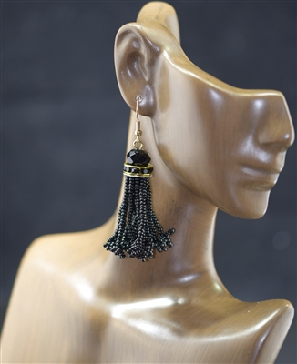 25357 BEADED TASSEL EARRINGS