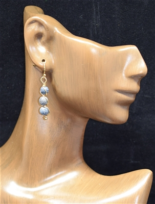 25405 TRIPLE STONE EARRINGS