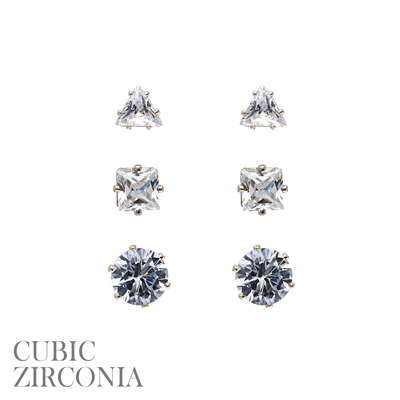 25553CR SET OF 3 RHINESTONE STUDS