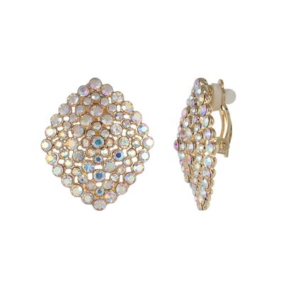 25664 CRYSTAL CLIP ON EARRINGS