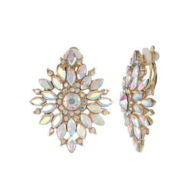 25666 CRYSTAL CLIP ON EARRINGS