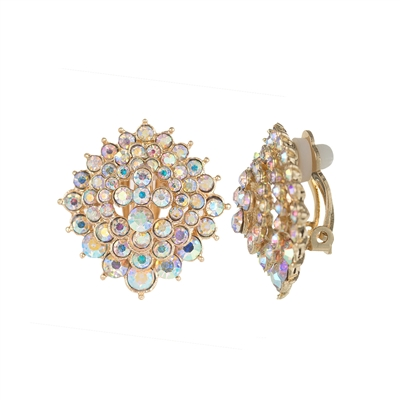 25668 CRYSTAL CLIP ON EARRINGS