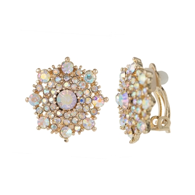 25672 CRYSTAL CLIP ON EARRINGS
